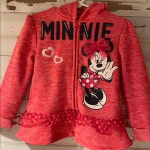 Minnie Mouse Hooded Sweat Shirt/Jacket